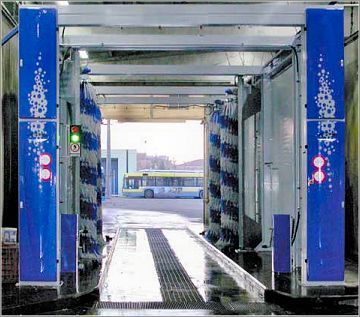 Drive Through Bus Wash System for PSV Fleets